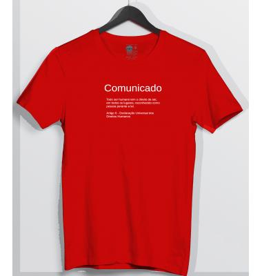 Camiseta Comunicado Art, 6 Direitos Humanos